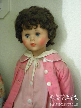 Walking doll in closet
