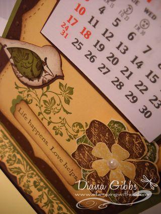 Tracys calendar closeup