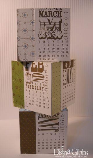 Diana block calendar