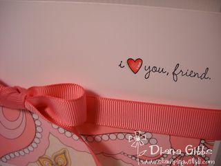 Love friend closeup