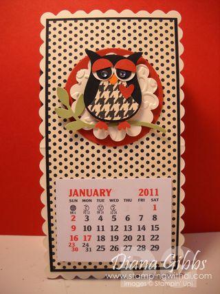 Diana Gibbs 2011 owl calendar