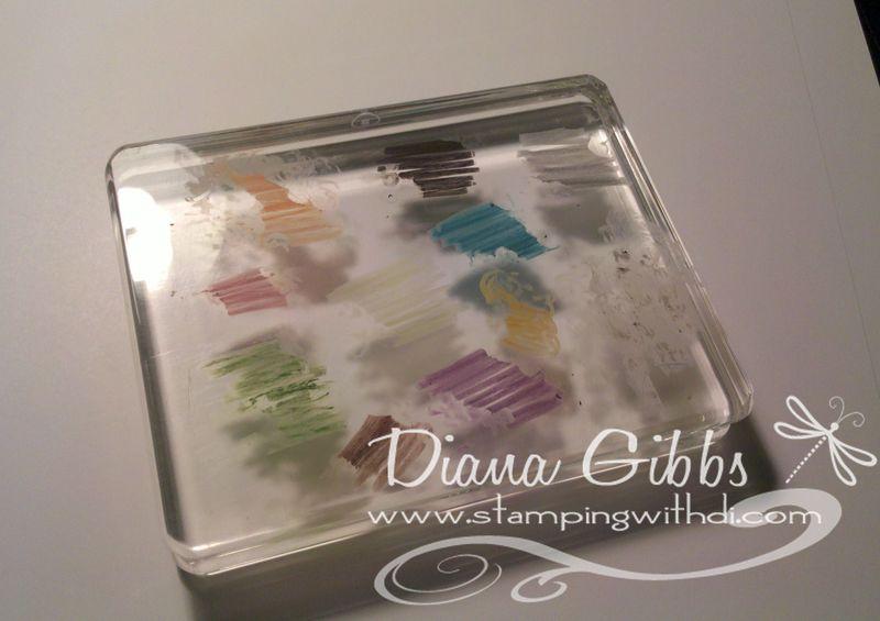 Diana acrylic block watercolor crayons