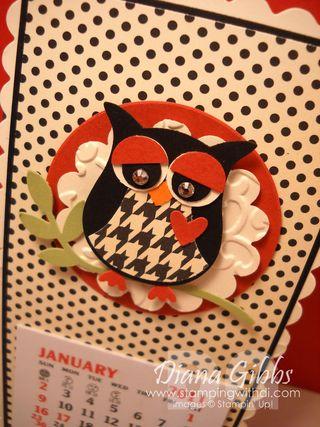 Diana Gibbs 2011 owl calendar close