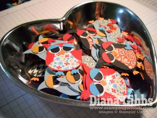 Owls in heart dish