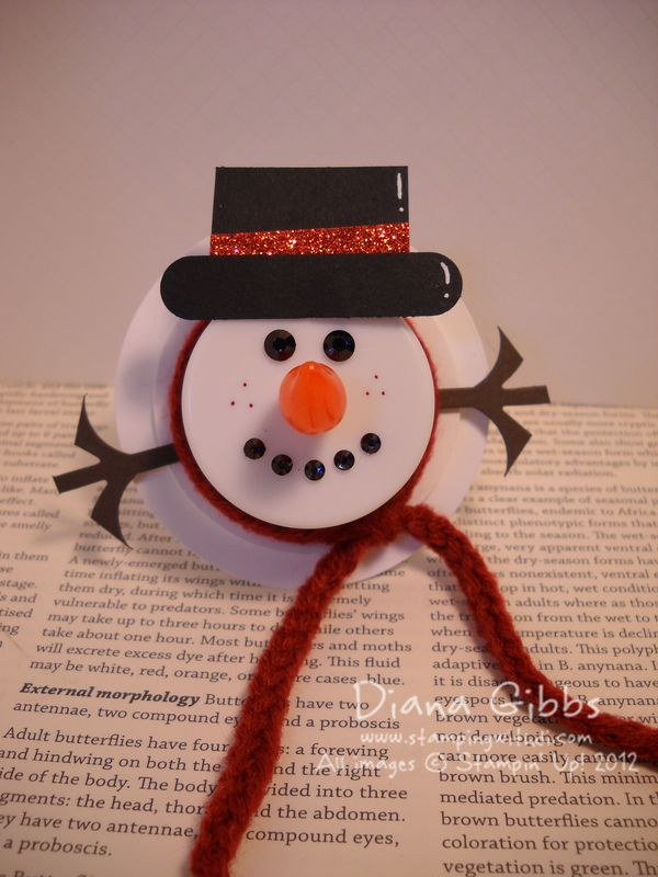 Stamping With Di Flame Less Tealight Snowman
