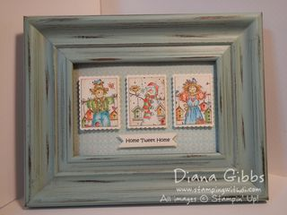 Mini Masterpiece Seasonal Birdhouses Frame - Diana Gibbs