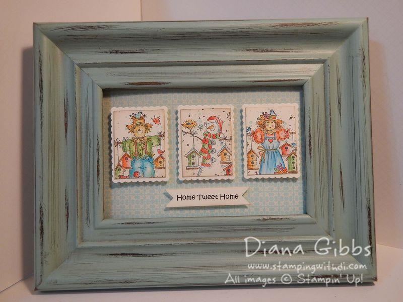 Mini Masterpiece Seasonal Birdhouses Frame - Diana Gibbs