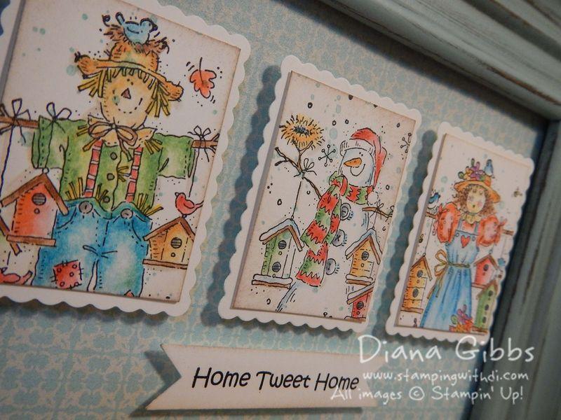 Mini Masterpiece Seasonal Birdhouses Frame close - Diana Gibbs