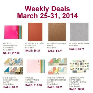 Weekly deal march 25