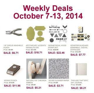 Weekly deal 10 7