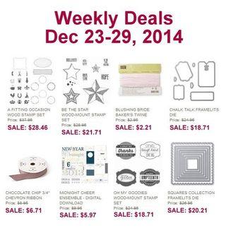 Weekly deal 12 23 14