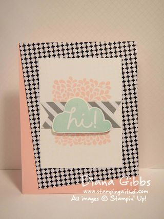 I Think You're Great Pink Pirouette Diana Gibbs Stampin' Up!