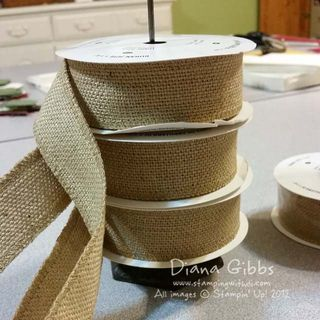 Class in the Mail Burlap ribbon