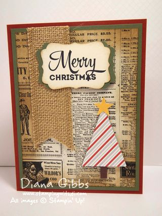 Merry Moments Stampin' Up! Diana Gibbs Susan Beach inspired