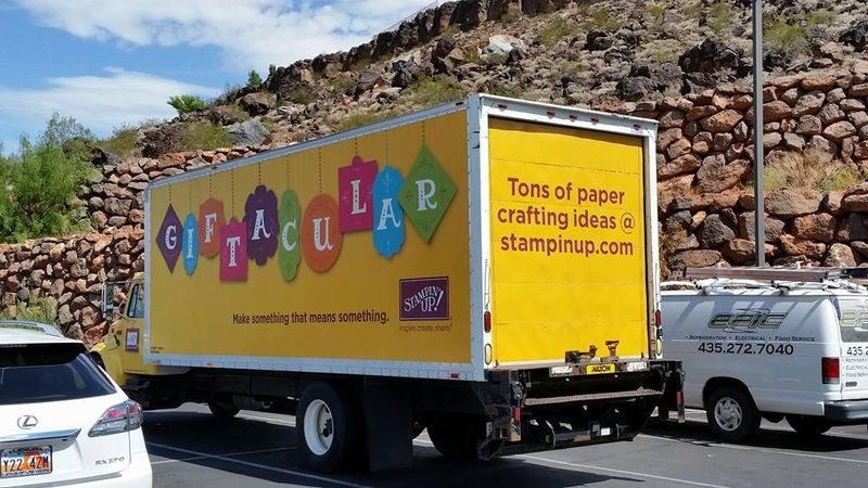 Stampin' Up! truck