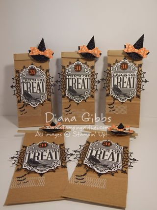 Trick or Treat Bag with Witches Hat Diana Gibbs