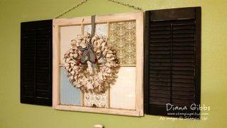 Season to Season wreath Diana Gibbs window