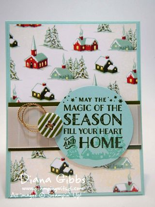 Cozy Christmas Diana Gibbs Stampin' Up! Lori Mueller case