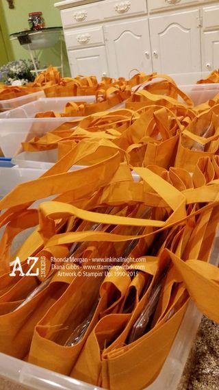 AZ INKers sea of orange bags