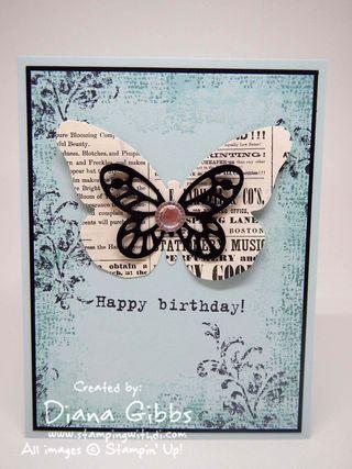Bold Butterfly Stampin' Up! Diana Gibbs Dena Rekow case