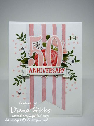 Number of Years 50 Diana Gibbs Stampin' Up! Yvonne VanBruggen case