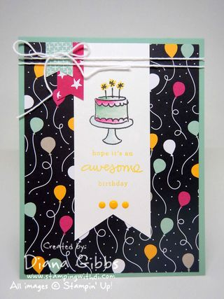 It's My Party Diana Gibbs Stampin' Up! Judy May case