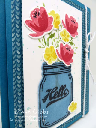 Jar of Love Red White and Blue Blog Hop Diana Gibbs Stampin' Up!