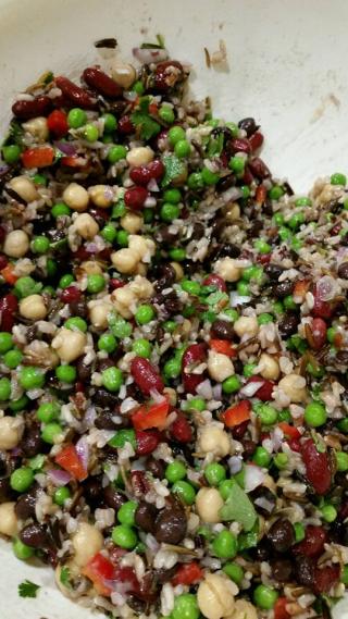 Three Bean Salad with Wild Rice