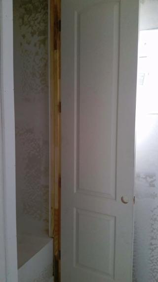 water heater closet door