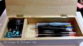 inside pencil box Diana Gibbs