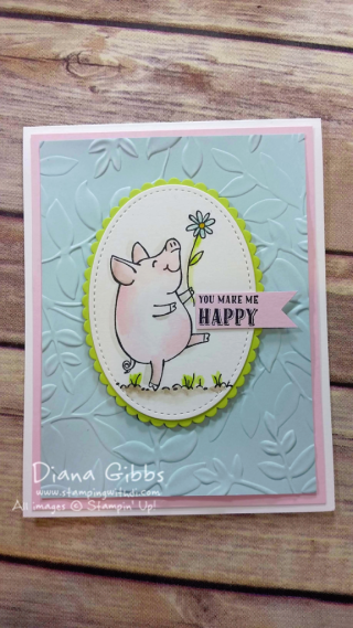 This Little Piggy Diana Gibbs Stampin' Up! Make n Take for downline virtual meeting