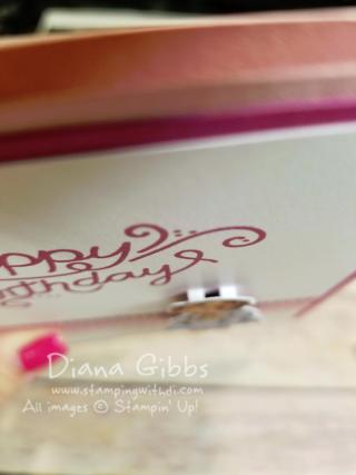 Foam Adhesive Strips behind Birthday Girl Diana Gibbs