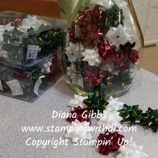 Mini bows Diana Gibbs www.stampingwithdi.com