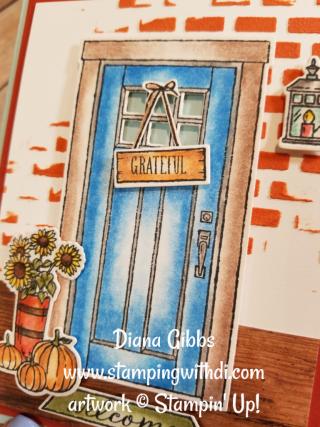 At Home With You Blog Hop Diana Gibbs www.stampingwithdi.com