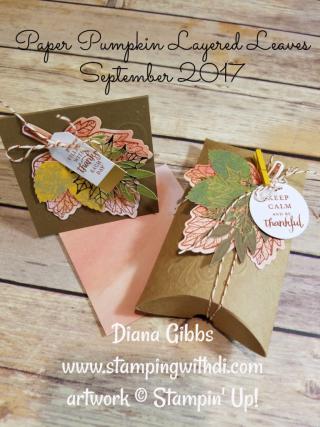 Paper pumpkin September 2017 Diana Gibbs