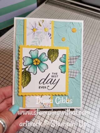 Birthday Blossoms Stampin' Blends Diana Gibbs