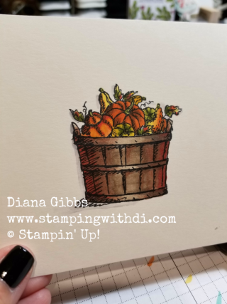 Basket of Wishes Pumpkins Diana Gibbs Stampin' Blends Stampin' Up!
