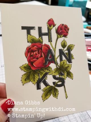 Floral Statements Diana Gibbs Stampin' Blends