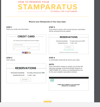 Stamparatus customer sheet help