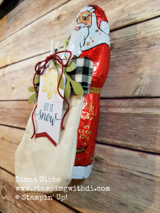 Paper pumpkin Back in Plaid stocking class santa too big Diana Gibbs