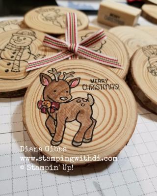 Wooden ornament Seasonal Chums Diana Gibbs