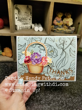 Blossoming  Basket Wendy Peterson www.stampingwithdi.com