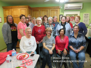 Christmas make n takes n lunch Di's Country INKers www.stampingwithdi.com