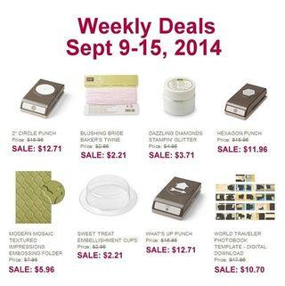 Weekly deal 9 9 2014