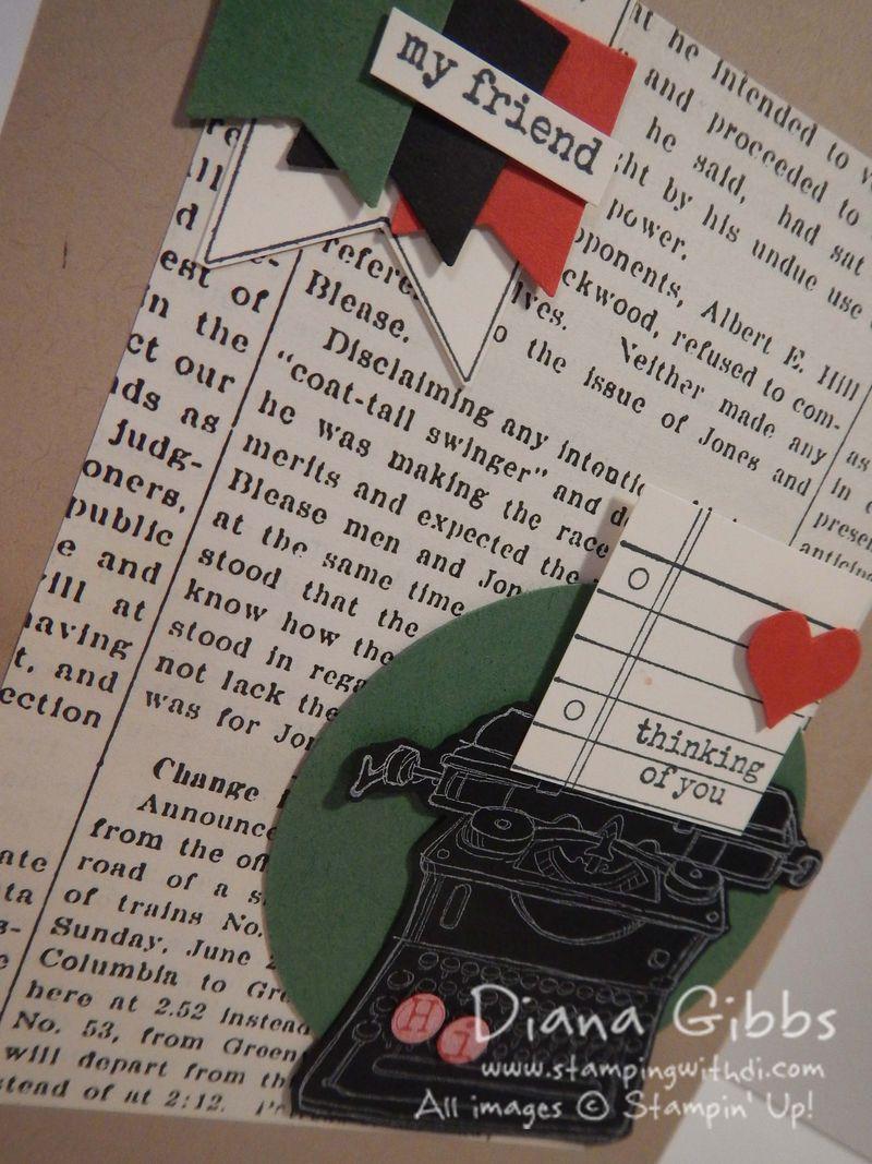 Tap Tap Tap Clas in the mail black typewriter