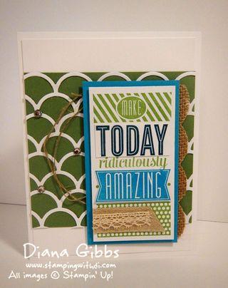 Amazing Birthday full Stampin' Up! Diana Gibbs