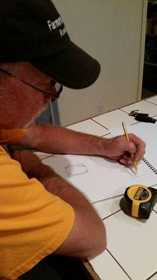 Jeff designing duck pond