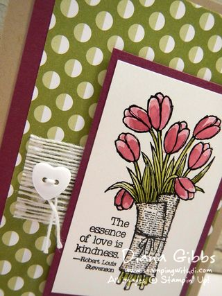 Love is Kindness Stampin' Up! Diana Gibbs