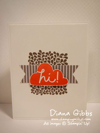 I Think You're Great Stampin' Up! Diana Gibbs Diana Carr inspired