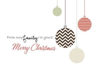 From our family to yours Merry Christmas